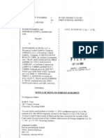 Keith Vogt-Notice of Filing Foreign Judgment