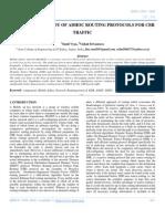 Performance Study of Adhoc Routing Protocols for Cbr Traffic
