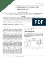 The Pattern and Realization of Zigbee -Wi-fi Wireless Pathway