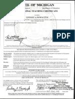 lindsay mi certificate