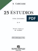 93246914 Carcassi 25 Estudios Guitarra