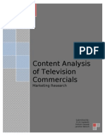 content analysis on tv ads
