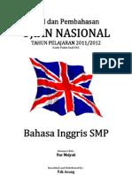 Pembahasan Soal UN Bahasa Inggris SMP 2012 (Paket Soal E45).pdf