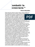 Bourdieu - Combatir La Tecnocracia