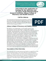 IPSF-ACPHS Research Internship in Nano-technology call