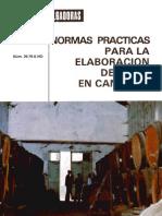 Normas Prácticas para la Elaboración de Vinos en Canarias