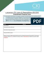 DCON Amendment Proposal Form