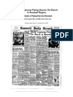 1947 Roswell Daily Record Newspaper Articles