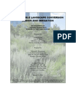 Sustainable Landscape Conversion