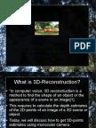 3D reconstruction Slides