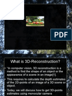 3D reconstruction Slides