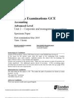 Accounting A2 jan 2005
