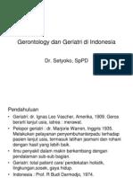 Gerontology Dan Geriatri Di Indonesia