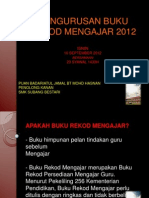 Pengurusan Buku Rekod Mengajar 2012