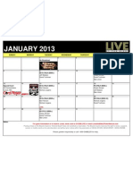 Live at the Bike 2013 January Schedule