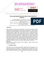 Ann Based Prediction of Surface Roughness in Turning