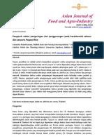 Pengaruh Waktu Pengeringan Dan Penggorengan Pada Karakteristik Tekstur Dan Sensoris Popped Rice