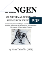 Ringen, or Mideival Germanic Submission Wrestling- Hanz Talhoffer