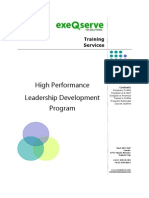 High Performance Leadership Program