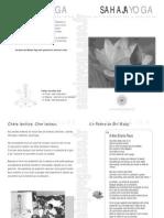 520753 Sahaja Yoga Book de Presentation de Sahaja Yoga France