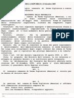 Scioglimento Consiglio Comunale Terme Vigliatore Parmaliana Decreto 23 Dicembre 2005 Seduta 37 Governo
