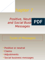 Positive, Neutral and Social Business Messages