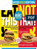 Eat This, Not That! 2012 the No-Diet Weight Loss Solution