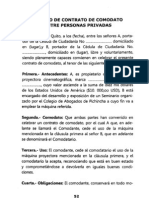 CONTRATO DE COMODATO ENTRE PERSONAS PRIVADAS