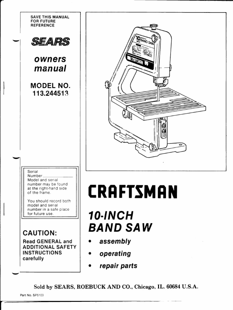 Sears craftsman 10 inch band saw owners manual electrical sears craftsman 10 inch band saw owners manual electrical connector screw keyboard keysfo Choice Image