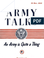 Army Talks 1944 - The Army is Quite a Thing