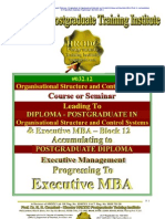Block 12 Organisational Structure and Control Systems Executive MBA