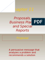 Proposals, Business Plans and Special Reports