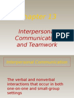 Interpersonal Communication and Teamwork