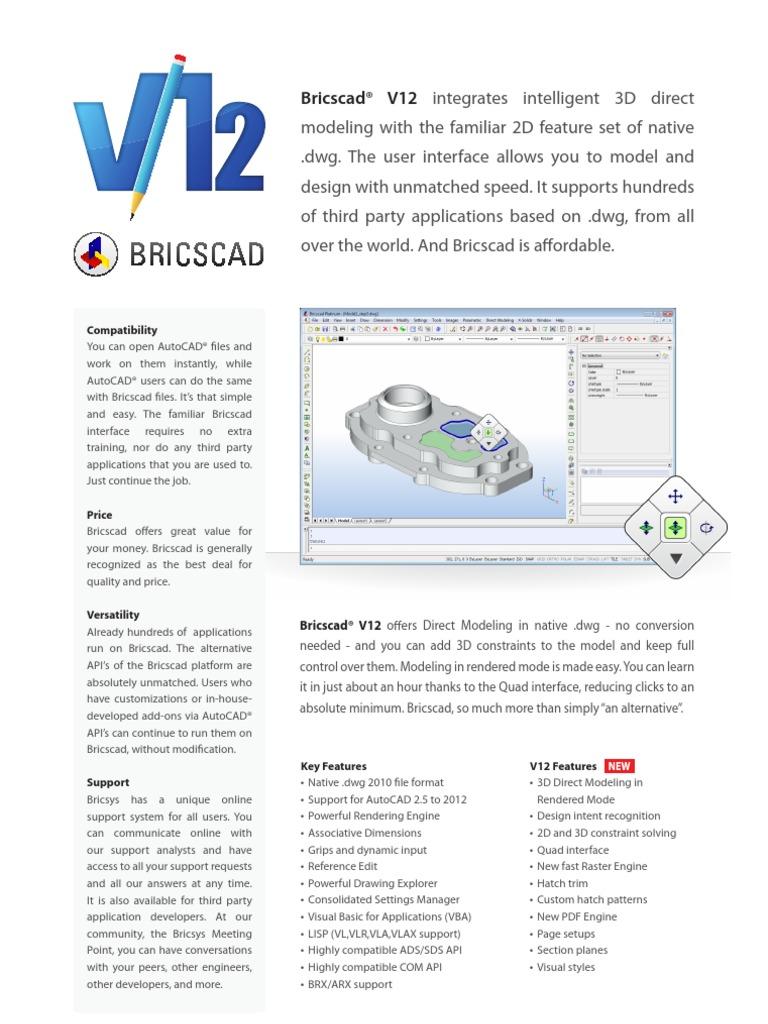 bricscad | Auto Cad | Application Software