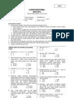Soal Prediksi UN Matematika SMP 2013