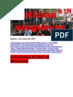 Noticias Uruguayas martes 1 de enero del 2013