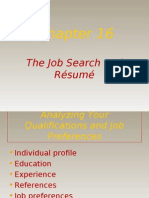 The Job Search and Resume