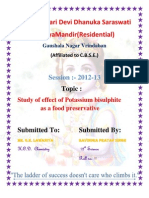 Study of effect of potassium bisulphite as a food preservative
