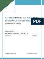La didactique en littérature