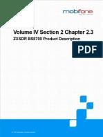 2.3 ZXSDR BS8700 Product Description