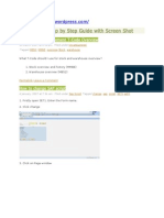 SAP How to Step by Step Guide With Screen Shot