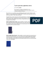Solar PV Power Generation