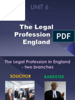 Unit 6 - The Legal Profession in England