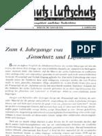 Gasschutz und Luftschutz 4.Jahrgang 1934 / Zeitschrift für das gesamte Gebiet des Gas- und Luftschutzes der Zivilbevölkerung