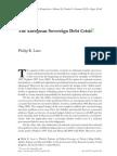 Lane The European sovereign debt crisis