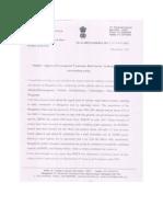 Bangalore South MP letter to CM on Commuter Rail Bangalore