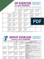 JANUARY 2013 Group Exercise Calendar