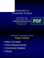 Intro to Uncertainty Analysis
