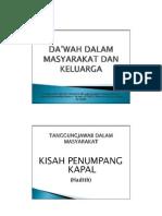 DA'WAH DALAM MASYARAKAT DAN KELUARGA by Dr Mualimin MA