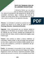 CONTRATO DE TRABAJO CON UN EXTRANJERO PARA LABORES EDUCATIVAS
